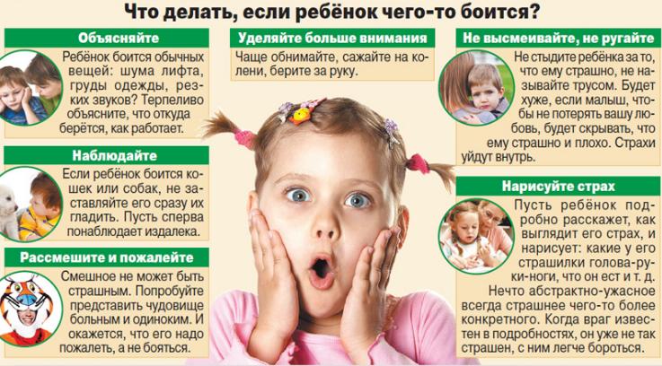 Что делать если ребенок боится