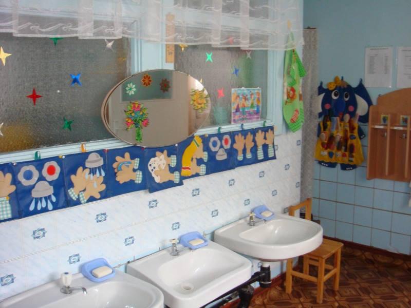Моечная зона в детском саду