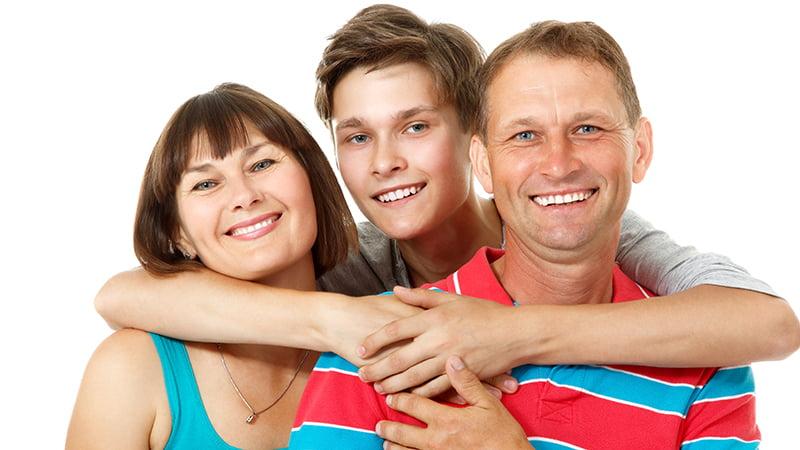Родители и сын подросток