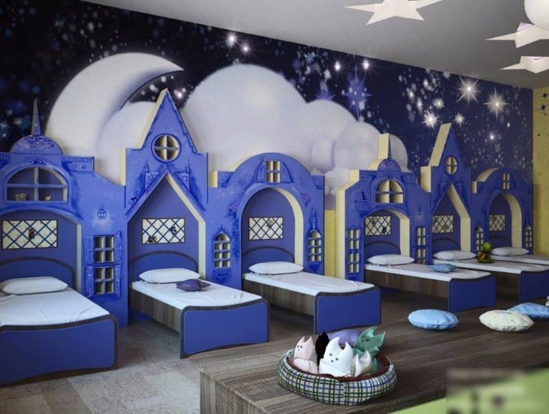 Спальня детского сада