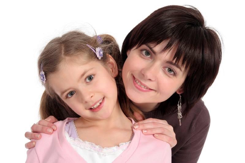 Мама с дочкой 5 лет